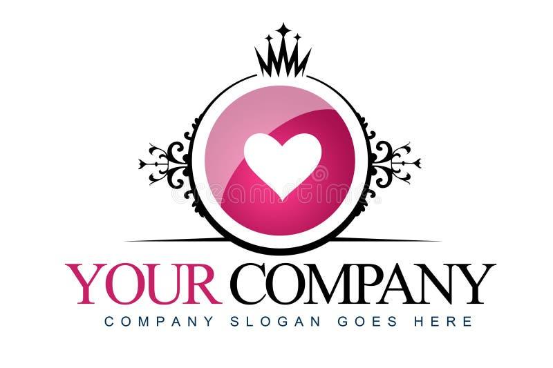 Logo del cuore dell'annata royalty illustrazione gratis
