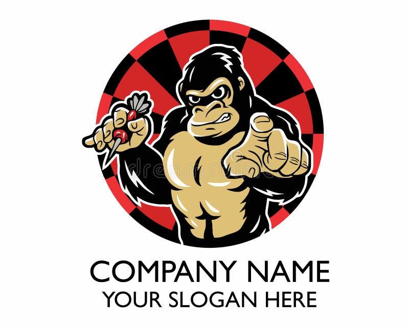 Logo del dardo della gorilla fotografia stock