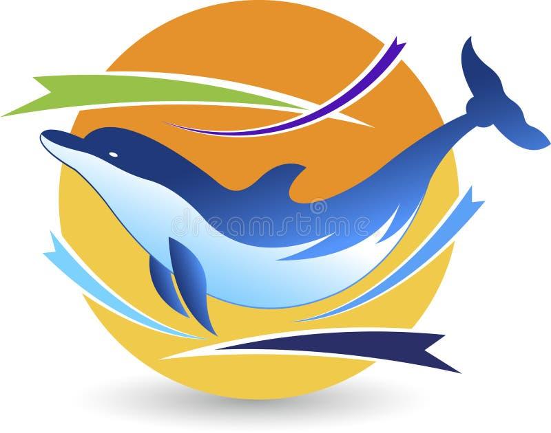 Logo del delfino illustrazione vettoriale