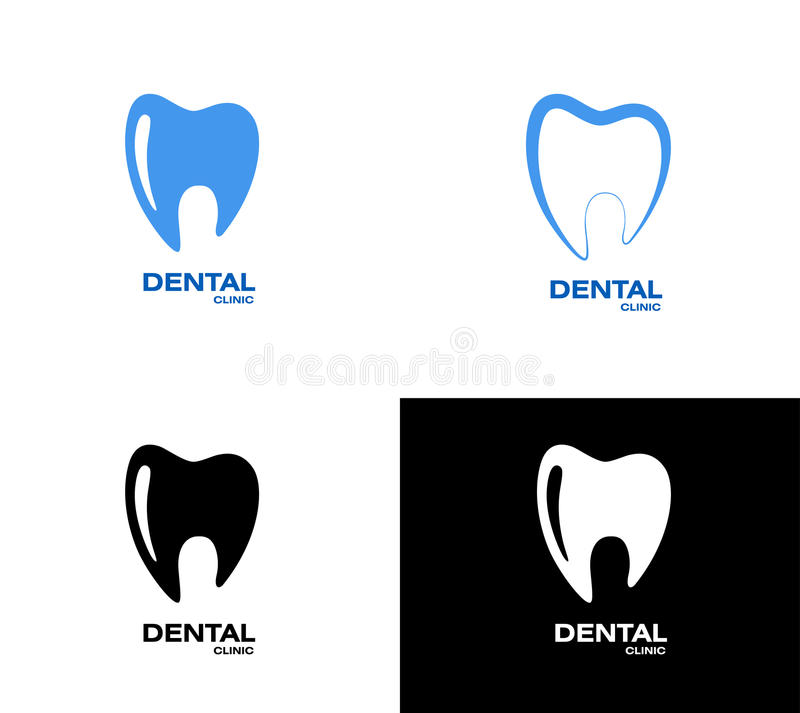 Logo del dente illustrazione di stock
