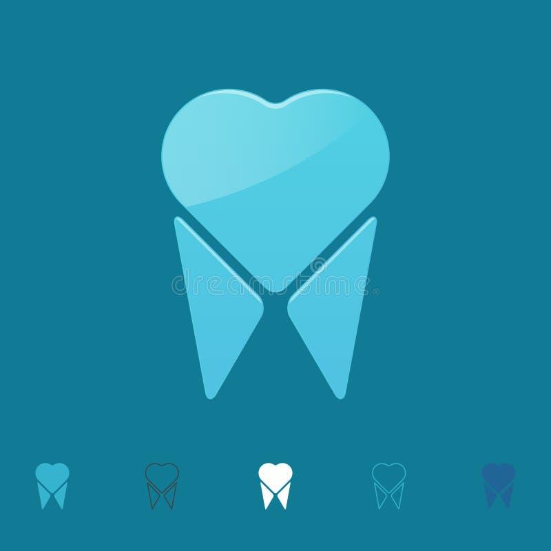 Logo del dente, illustrazione di vettore illustrazione vettoriale