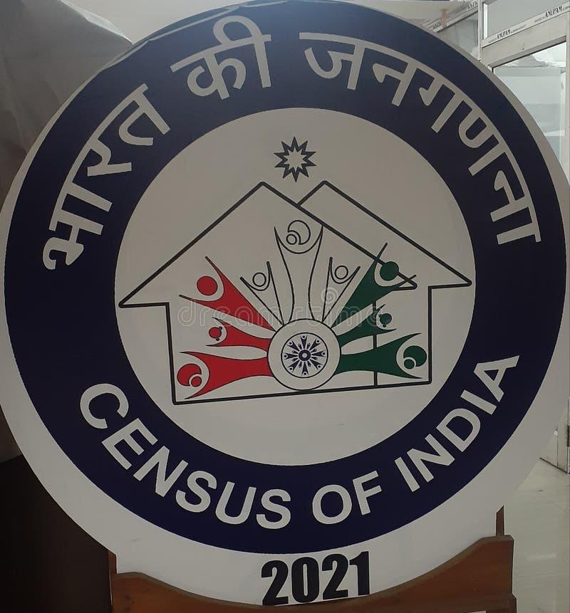 Logo del dipartimento censimento del governo indiano fotografia stock libera da diritti