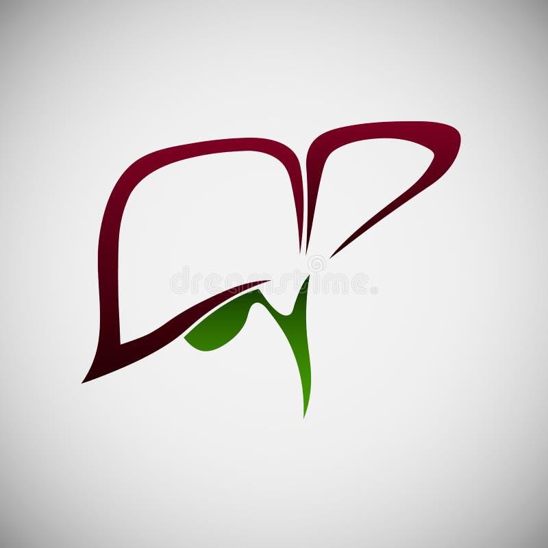 Logo del fegato con la cistifellea fotografie stock libere da diritti