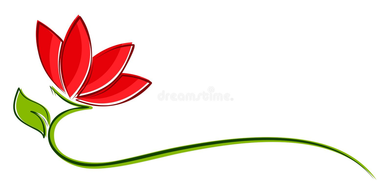 Logo del fiore stilizzato