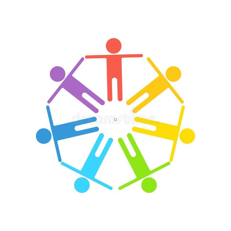 Logo del gay dell'arcobaleno illustrazione di stock
