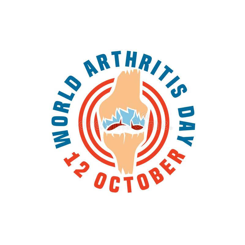 Logo del giorno dell'artrite immagini stock libere da diritti