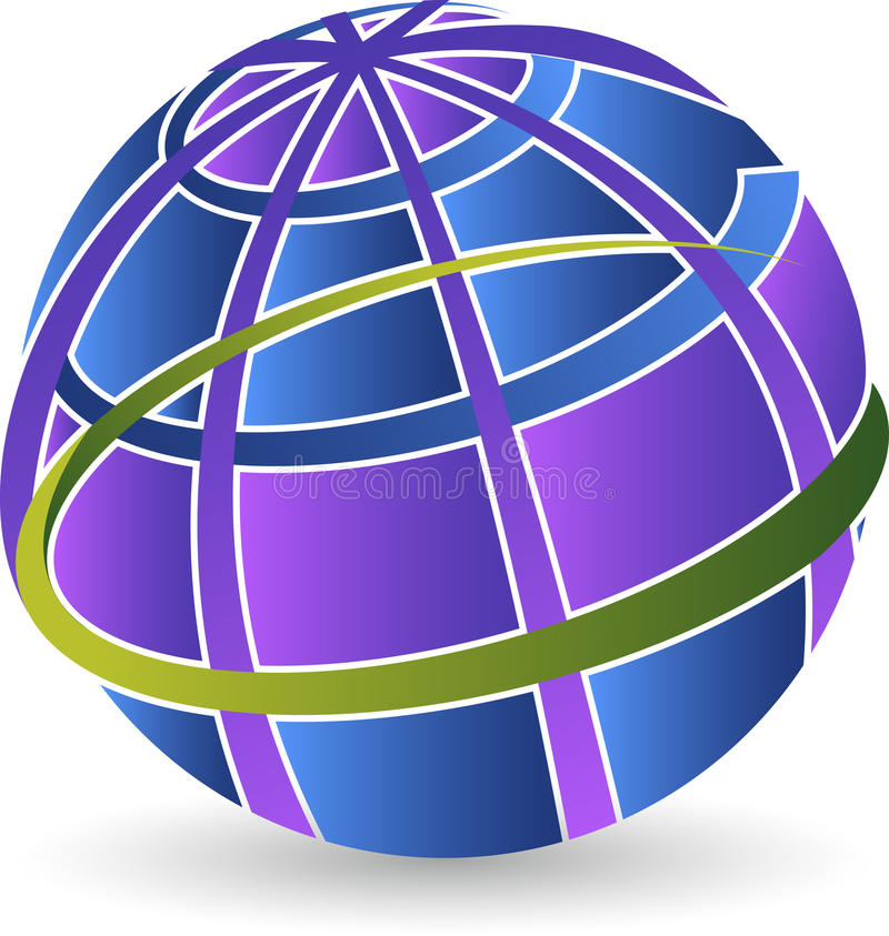 Logo del globo illustrazione di stock