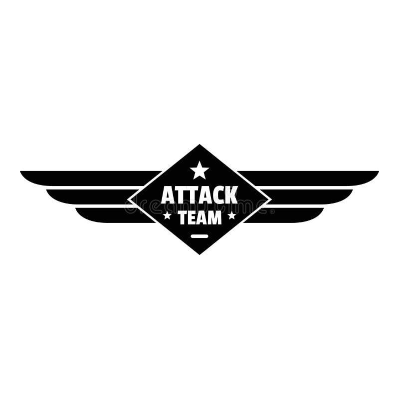 Logo del gruppo di Atack, stile semplice illustrazione di stock