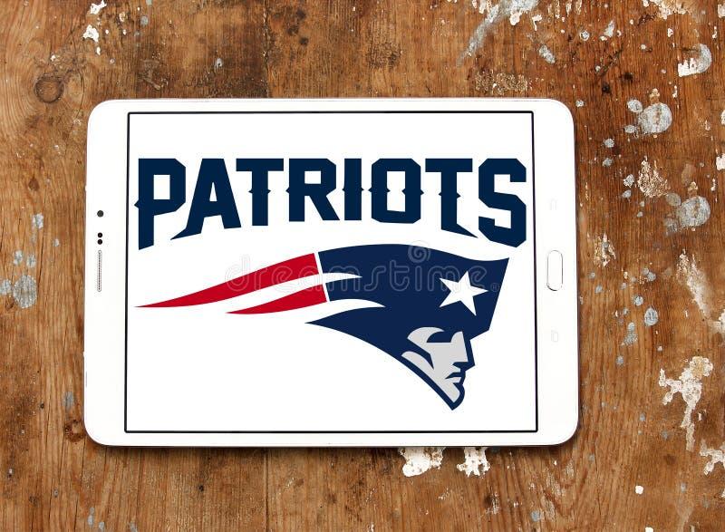 Logo del gruppo di football americano di New England Patriots immagini stock