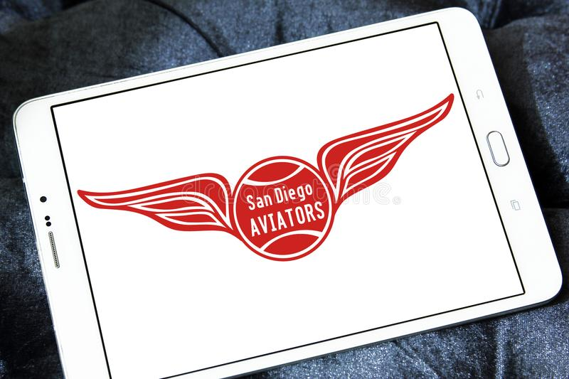 Logo del gruppo di tennis di San Diego Aviators fotografia stock libera da diritti
