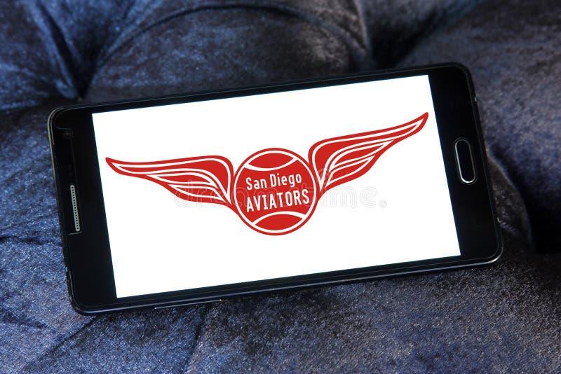 Logo del gruppo di tennis di San Diego Aviators fotografia stock