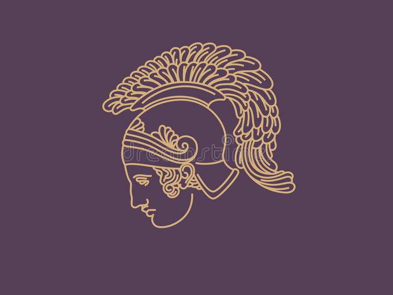 Logo del guerriero immagine stock