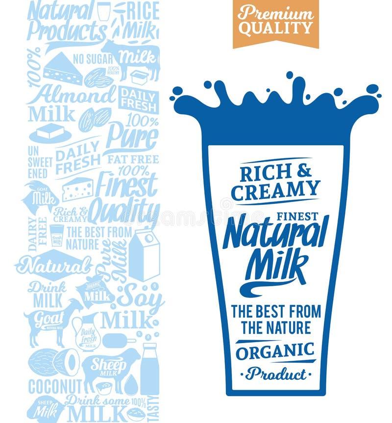 Logo del latte di vettore illustrazione vettoriale