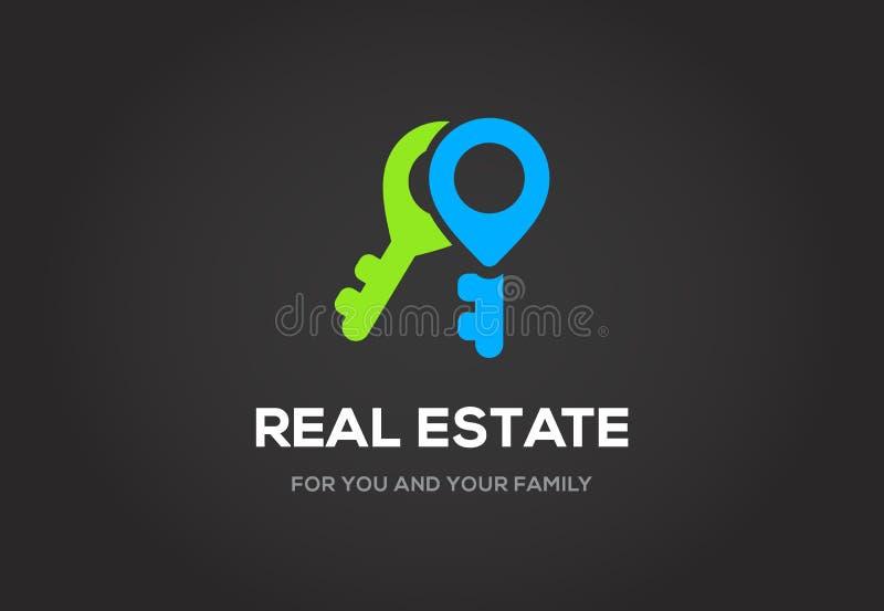 Logo del modello per la classe dell'elite della città del cottage o dell'agenzia immobiliare illustrazione vettoriale
