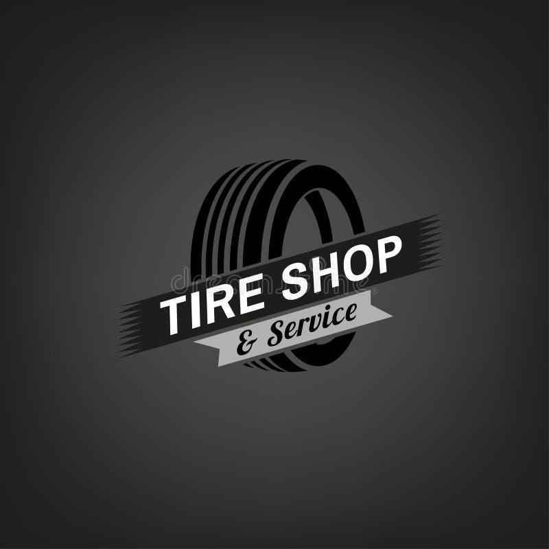 Logo del negozio della gomma royalty illustrazione gratis