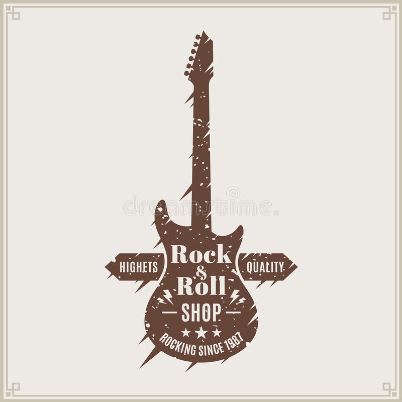 Logo del negozio di rock-and-roll royalty illustrazione gratis
