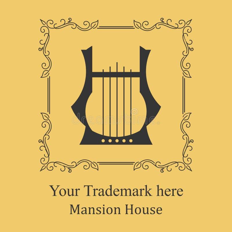 Logo del palazzo dell'hotel immagini stock
