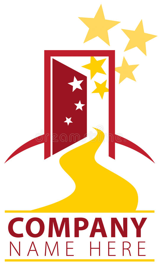 Logo del percorso della porta aperta royalty illustrazione gratis