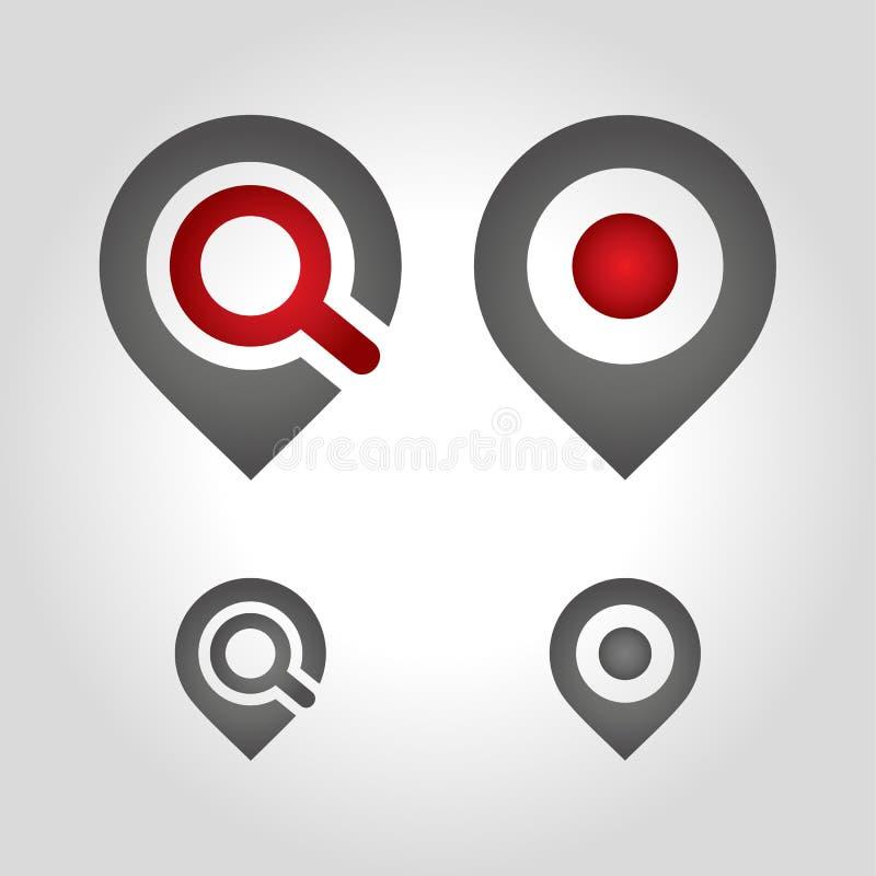 Logo del perno della mappa fotografia stock libera da diritti