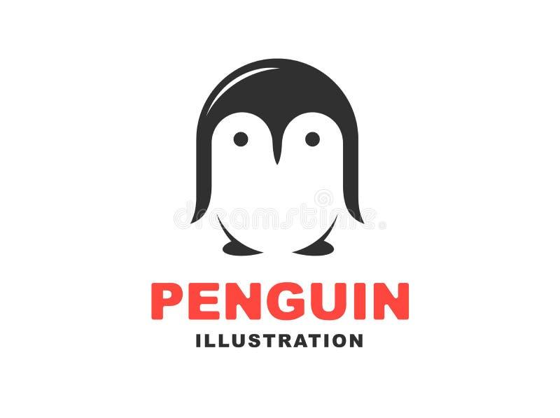 Logo del pinguino - vector l'illustrazione, emblema su fondo bianco illustrazione vettoriale