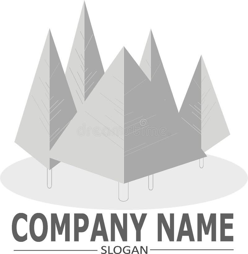 Logo del pino immagine stock