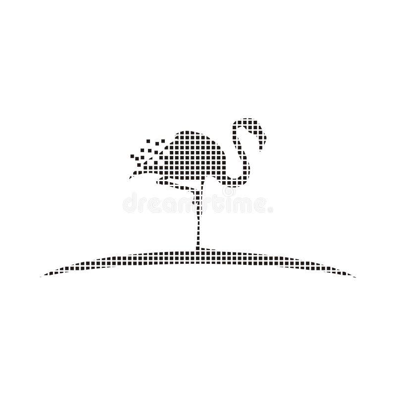 Logo del pixel dell'animale selvatico illustrazione vettoriale