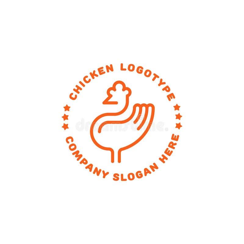 Logo del pollo Linea progettazione dell'icona royalty illustrazione gratis