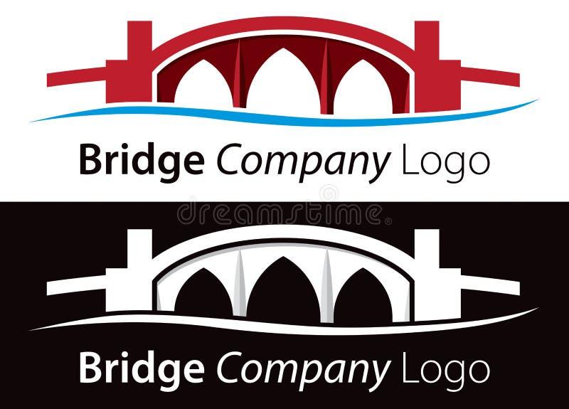 Logo del ponte illustrazione di stock