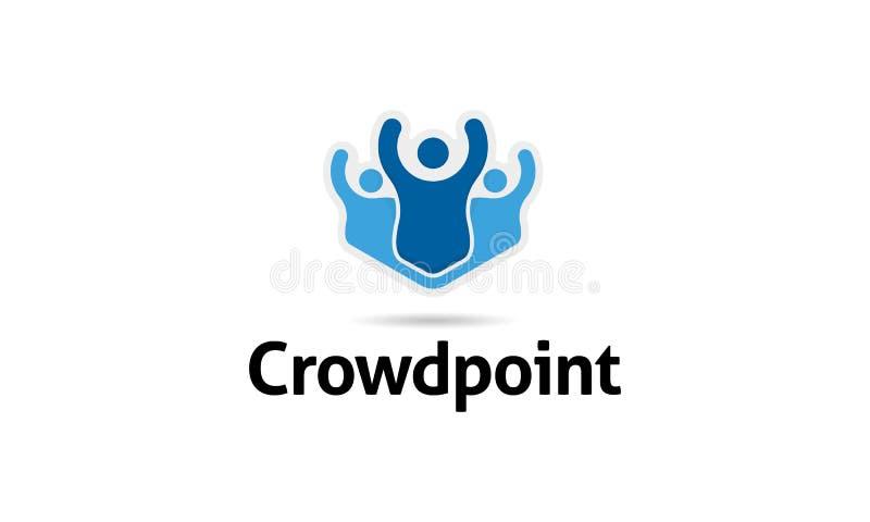 Logo del punto della folla illustrazione di stock