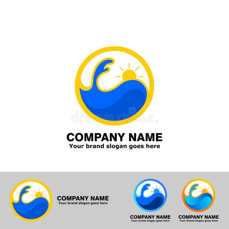 Logo del punto di Wave di alba illustrazione di stock
