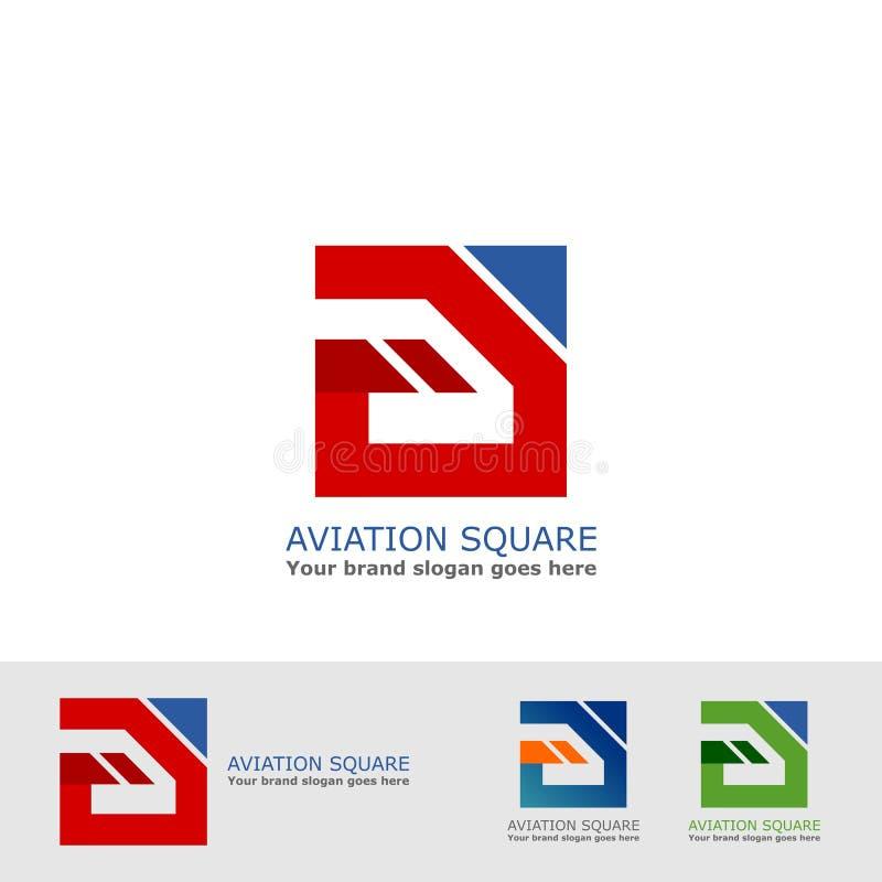 Logo del quadrato di aviazione royalty illustrazione gratis