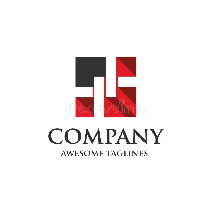Logo del recinto del collegamento a catena illustrazione di stock