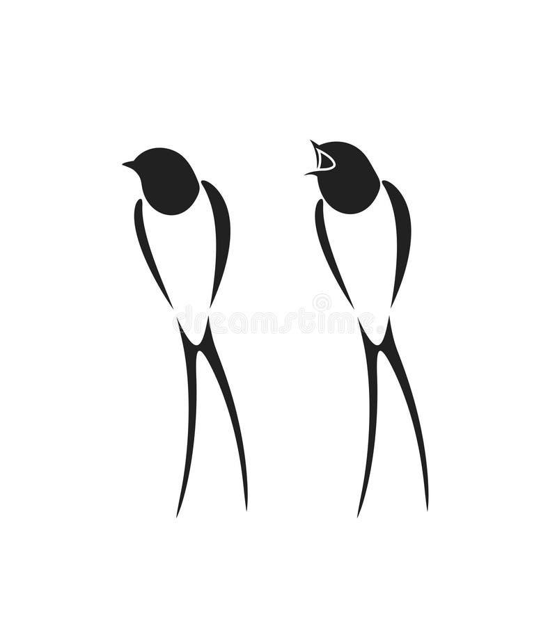 Logo del sorso Sorso isolato su backgroun bianco uccello illustrazione di stock