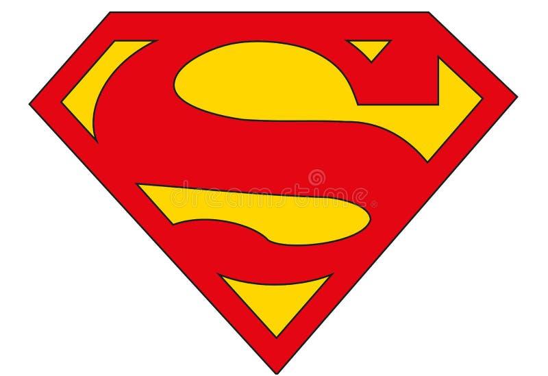 Logo del superman, supereroe illustrazione vettoriale