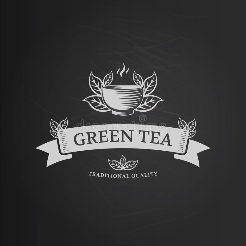 Logo del tè illustrazione vettoriale