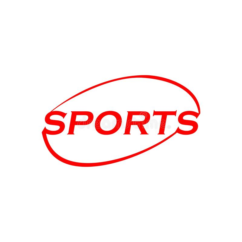 Logo del testo di parola di sport royalty illustrazione gratis