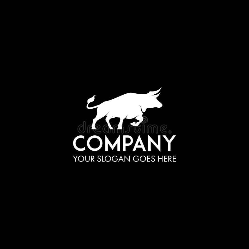 Logo del toro su spazio negativo royalty illustrazione gratis