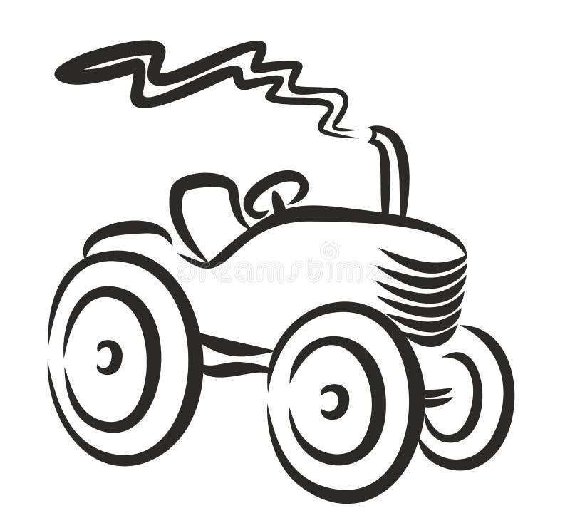 Logo del trattore illustrazione vettoriale