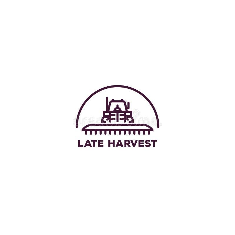 Logo del trattore agricolo illustrazione di stock