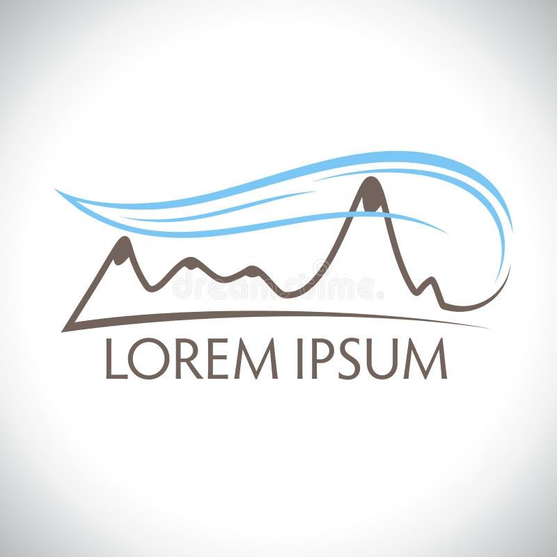 Logo del vento della montagna illustrazione vettoriale