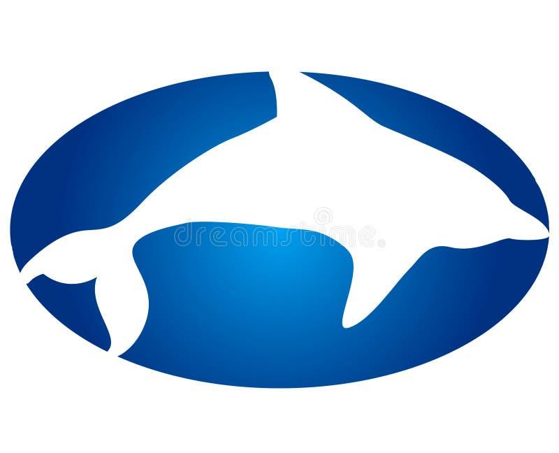 logo delfinów royalty ilustracja