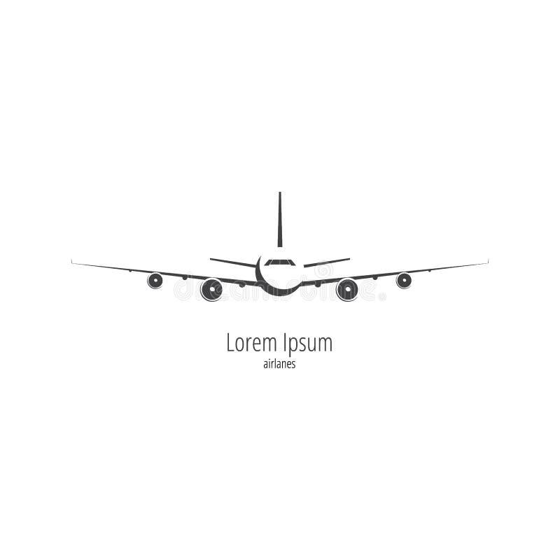 Logo dell'aeroplano su fondo bianco immagine stock libera da diritti
