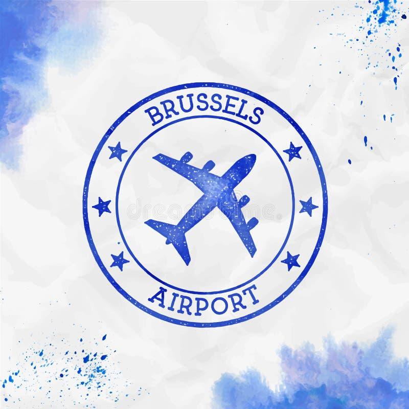 Logo dell'aeroporto di Bruxelles royalty illustrazione gratis