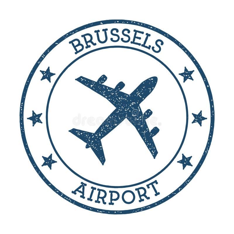 Logo dell'aeroporto di Bruxelles illustrazione vettoriale