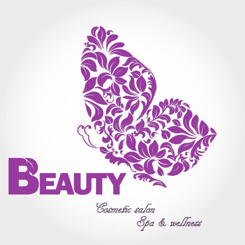 Logo dell'ala della farfalla illustrazione vettoriale
