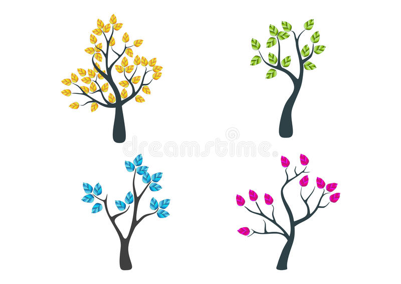 Logo dell'albero illustrazione di stock