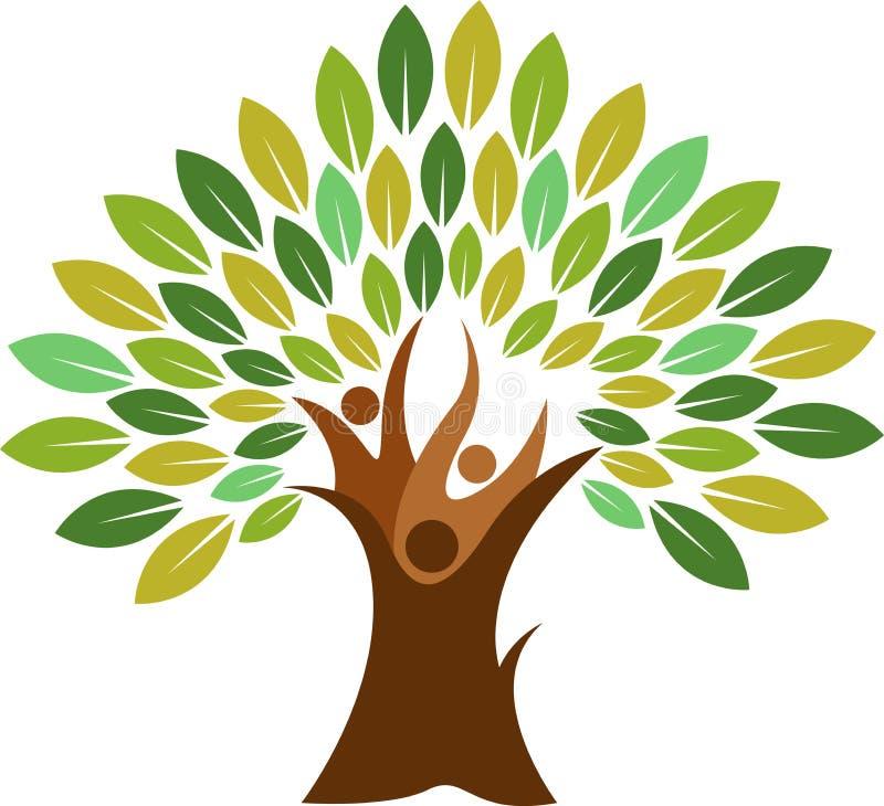 Logo dell'albero delle coppie illustrazione vettoriale