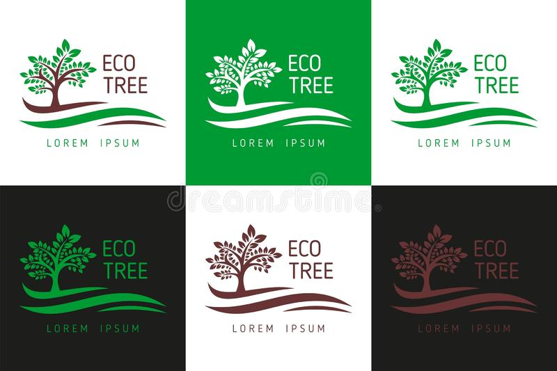 Logo dell'albero di Eco Vettore di Logo Template per l'affare, logo dell'albero, albero Logo Template Download - download di vett illustrazione vettoriale