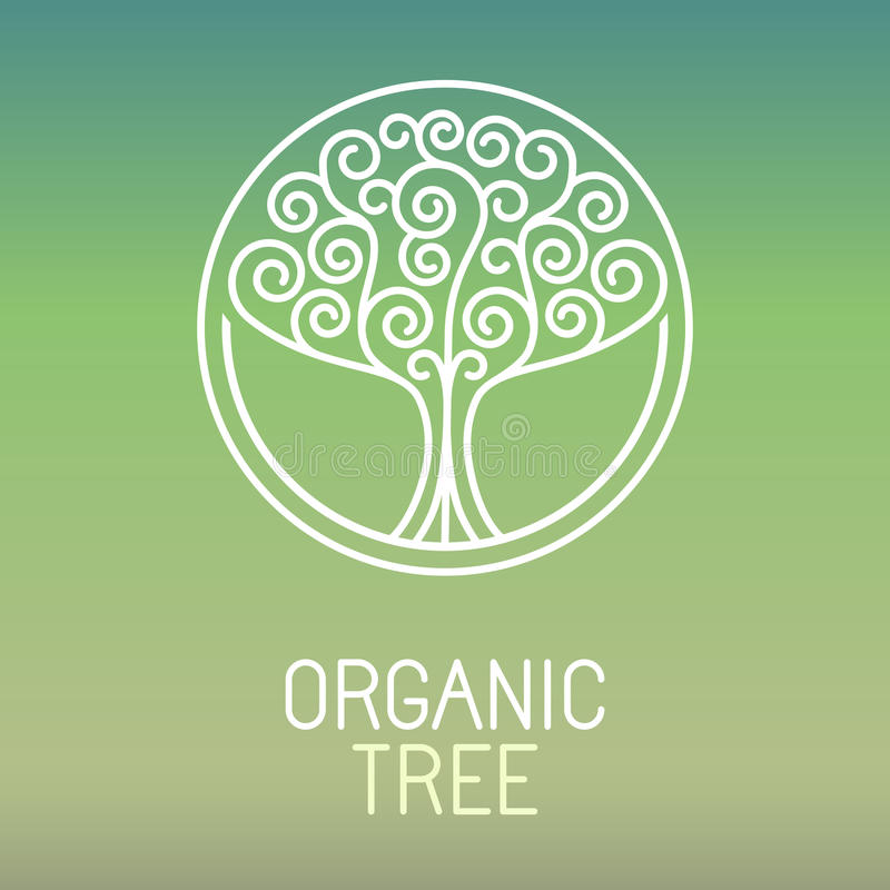 Logo dell'albero di vettore royalty illustrazione gratis