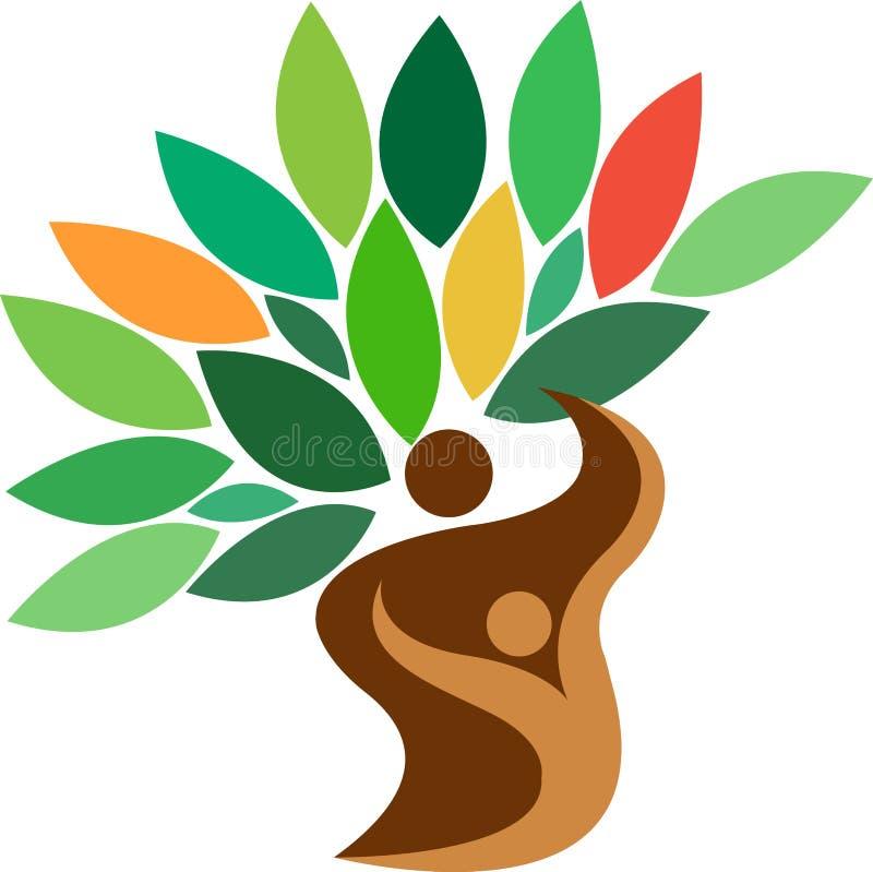 Logo dell'albero genealogico royalty illustrazione gratis